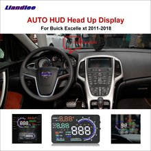 Liandlee Car HUD Head Up Display For Buick Excelle xt 2011-2018 Digital Speedometer Fuel Consumption Projector Screen Detector