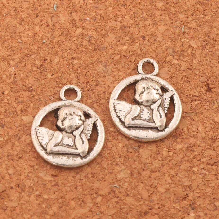 Baby Angel Of Caring Charm Beads 16.5x13.1mm 200PCS Antique Silver Pendants Jewelry DIY L125