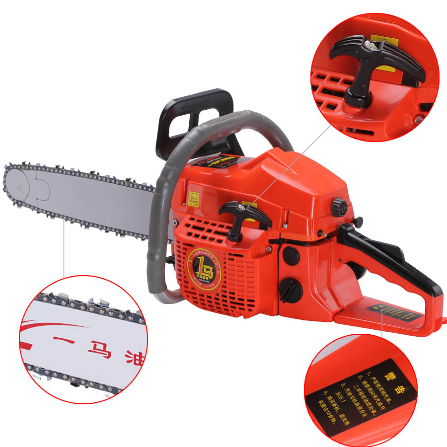 Professional wood cutter chain saw 2-Stroke Air-cooling 50CC 20'' 550mm cutting length Gasoline Chain Saw 11000 rpm wood cutter chain saw heavy duty gasoline chainsaw 2 stroke 58cc gas chain saw 3000rpm max 10000 rpm eu plug for garden tool