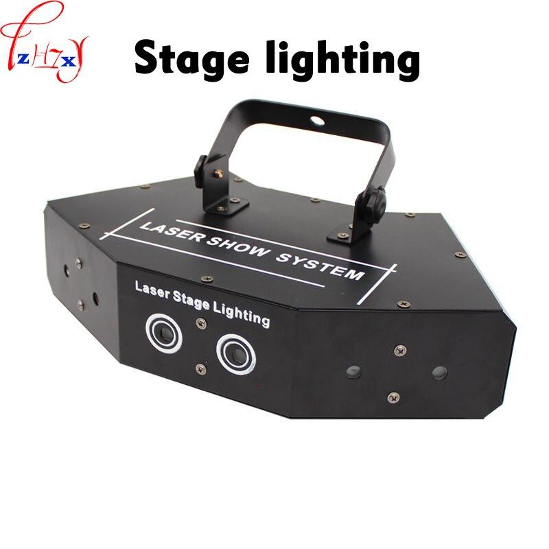 все цены на LED red and green blue six-eyes scanning laser light fan-shaped fine beam full color laser light bar disco lights 110/220V онлайн
