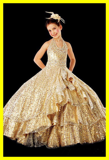 White Girls Dresses Baby Girl Flower Gold A Wedding Party Dress Uk Halter  Off The Shoulder Sleeveless Sequined Ball 2015 Cheap eb851f395b46