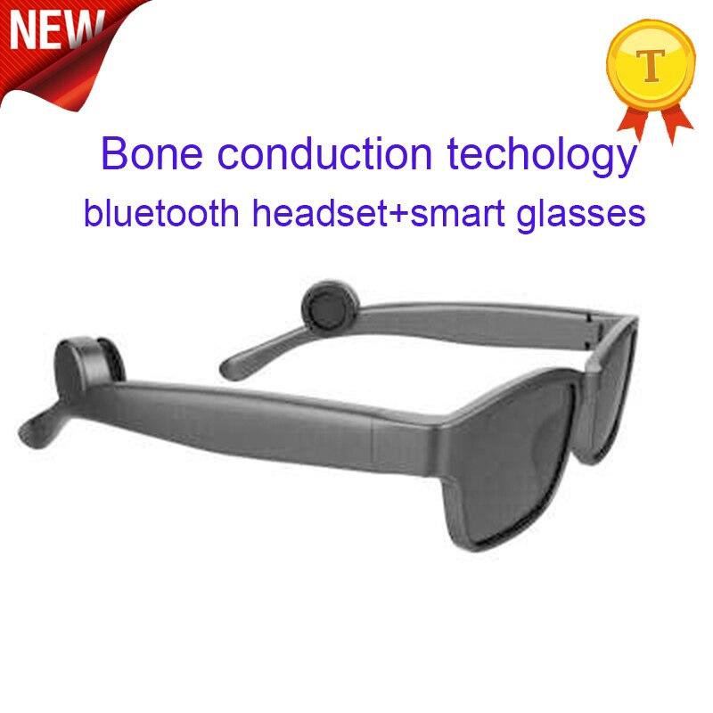 2018 plus récent casque Bluetooth lunettes de soleil musique microphone conduction osseuse type ouvert casque avec cadeaux de charge magnétique pour homme