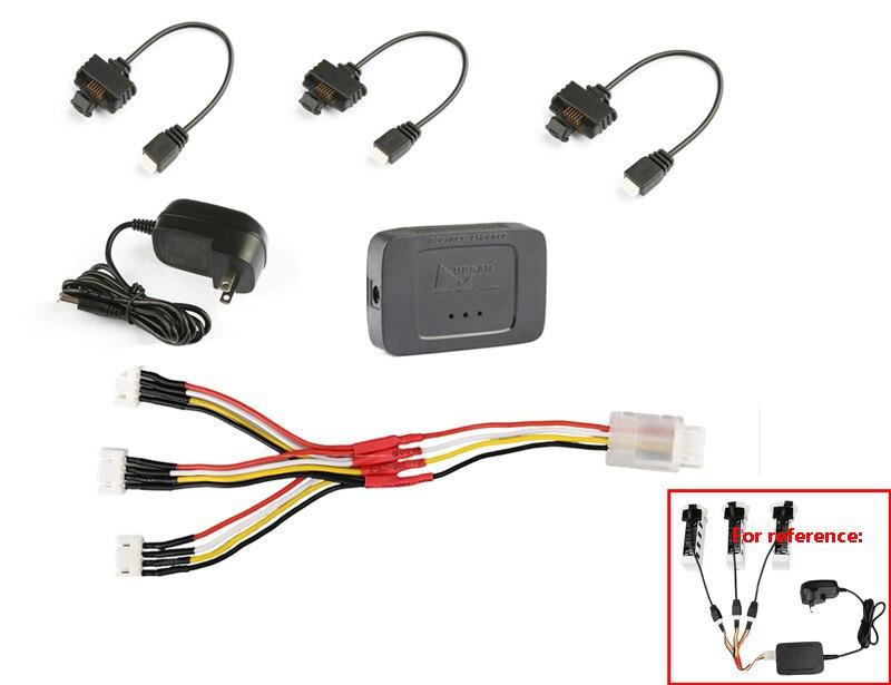 Oryginalny Zino H117S baterii 3 in 1 ładowania Combo zestaw kabel połączeniowy + zabawka do utrzymywania równowagi z ładowarką + Adapter Fr Hubsan ZINO Drone w Części i akcesoria od Zabawki i hobby na AliExpress - 11.11_Double 11Singles' Day 1