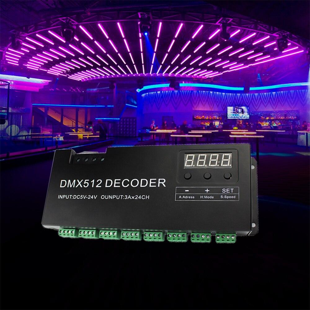 DIY 24-kanals DMX-avkodare för 8-grupp RGB LED Strip Controller 72A - Belysningstillbehör - Foto 6