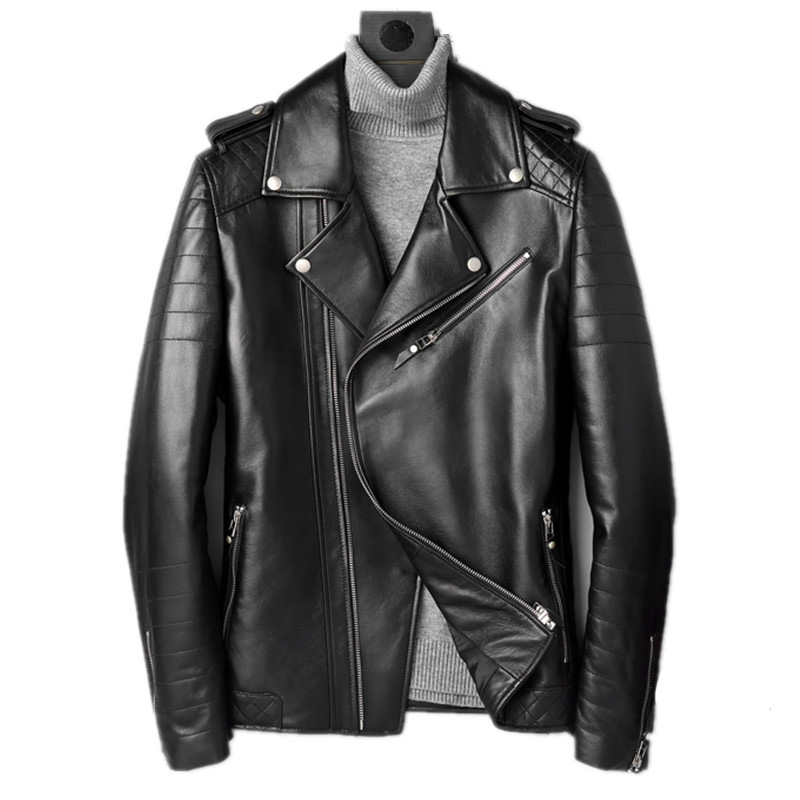 Genuine Leather Jacket Autumn Winter Jacket Men Real Sheepskin Coat for Men Streetwear Motorcycle Jackets Chaqueta Hombre MY1683