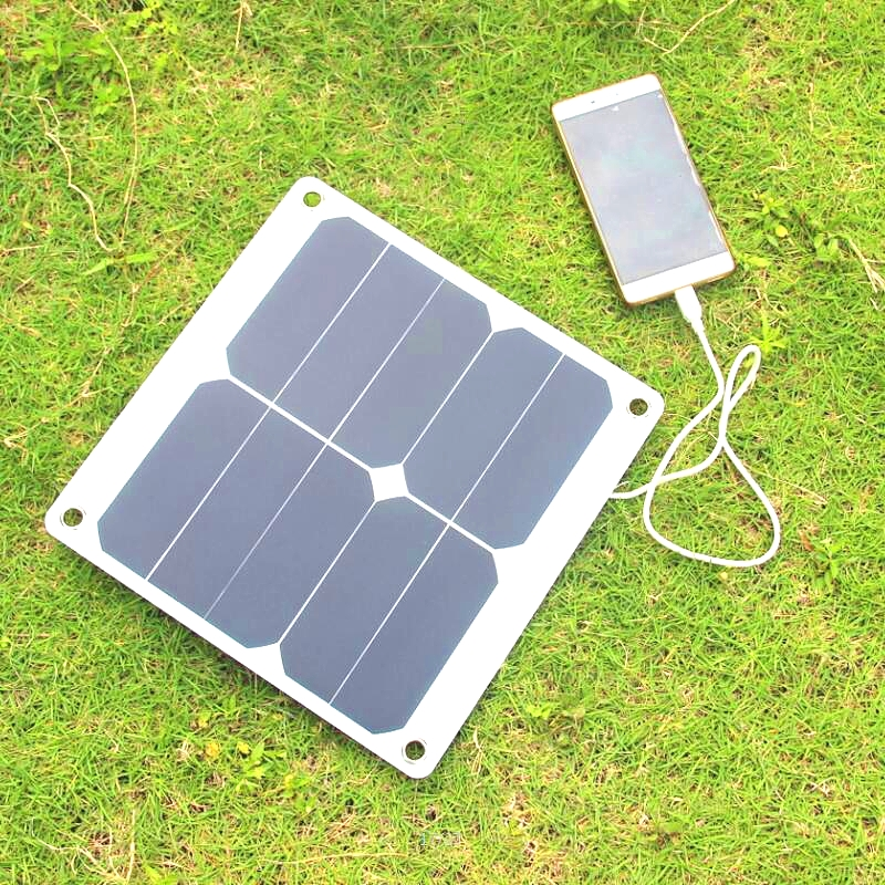 New 10W 5V 2A High Efficiency Sunpower Solar Panel Charger Portable Solar Cell Charger 275*270mm High Quality Free Shipping diy 5v 2a voltage regulator junction box solar panel charger special kit