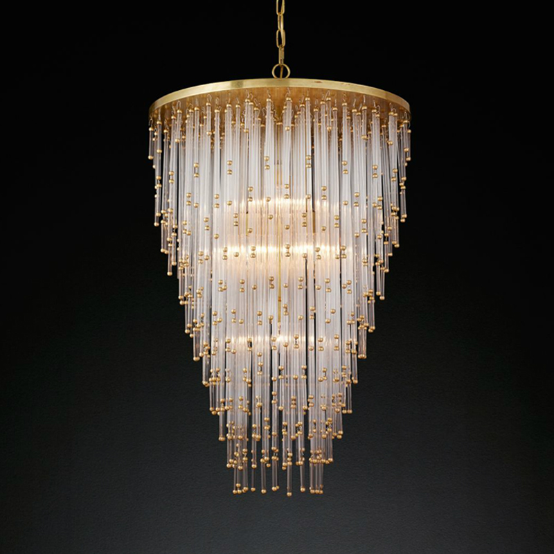 Nordic circular crystal chandelier living room dining room bedroom lighting simple atmosphere modern crystal chandelier for home цена и фото