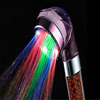 Lovely Pet New Colorful Temperature LED Light Water Bath Home Bathroom Filtration Shower Head New Drop