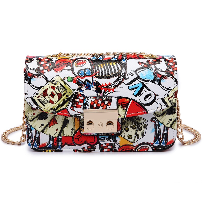 Image 4 - 2019 New Women Bags Summer Graffiti Ladies designer handbags high quality chain mini bag women messenger bags for women Clutchmessenger bags for womenmini bag womendesigner women bag -