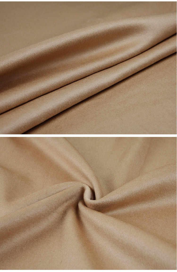 Высокого класса экспорт Итальянский верблюд кашемировые ткани зимняя куртка шерстяной ткани плотное пальто кашемировая шерсть ткани оптом кашемир ткань