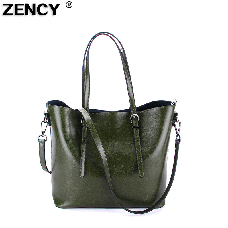 2018 Large Capacity Famous Brand Women Tote Shopping Bags Female Genuine Leather Cowhide Vintage Shoulder Shopping Casual Bag [whorse] brand high quality women genuine leather shoulder bags cowhide ladies casual tote bag large capacity wa5054 7