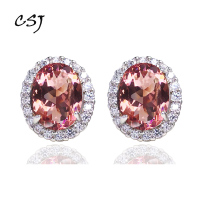 CSJ Diaspore Zultanite Stud Earrings 925 Sterling Silver Color changes gems Fine Jewelry Women Lady Wedding Engagment Party Gift