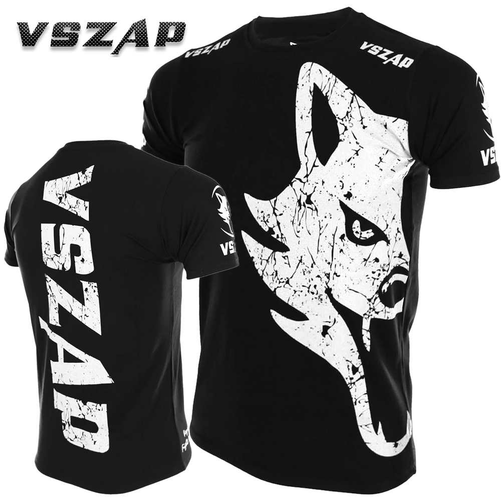 VSZAP Classic Mma T Shirt Rashguard Muay Thai Fighting Giant T-shirt Cotton