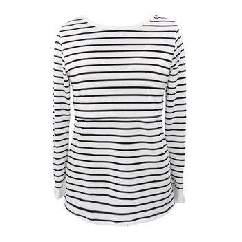 Telotuny Women Mom Pregnant Nursing Baby Maternity Long Sleeved Stripe Tops 2