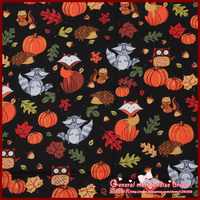 Sale 1Pieces Lot 140 50cm Pumpkin And Foxes Series Cotton Fabric Meter Knit Fabric Chic Scrapbooking