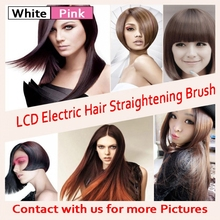 Promo offer Hot LCD Fast Hair straightener Comb Styler Professional Electric Auto Straight Hair Comb Brush Hair Style alisadora HQT-906