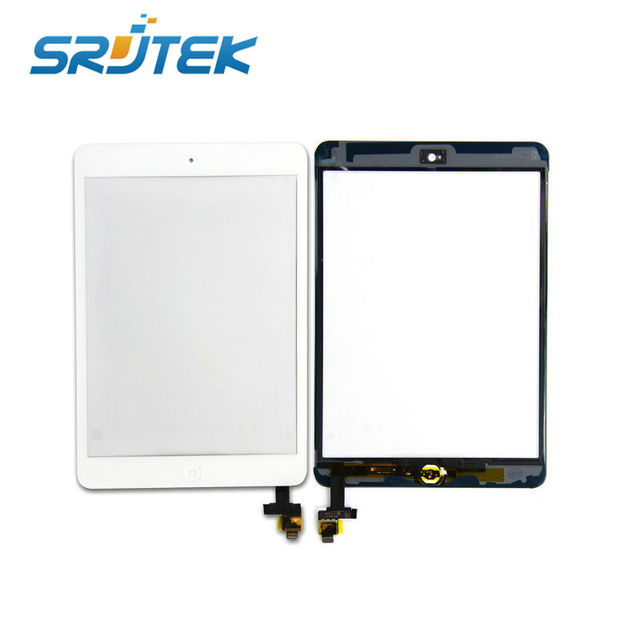 Original digitalizador de pantalla para ipad mini a1432 a1454 a1455 a1489 a1490 connectore & home button flex reemplazo de pantalla con ic