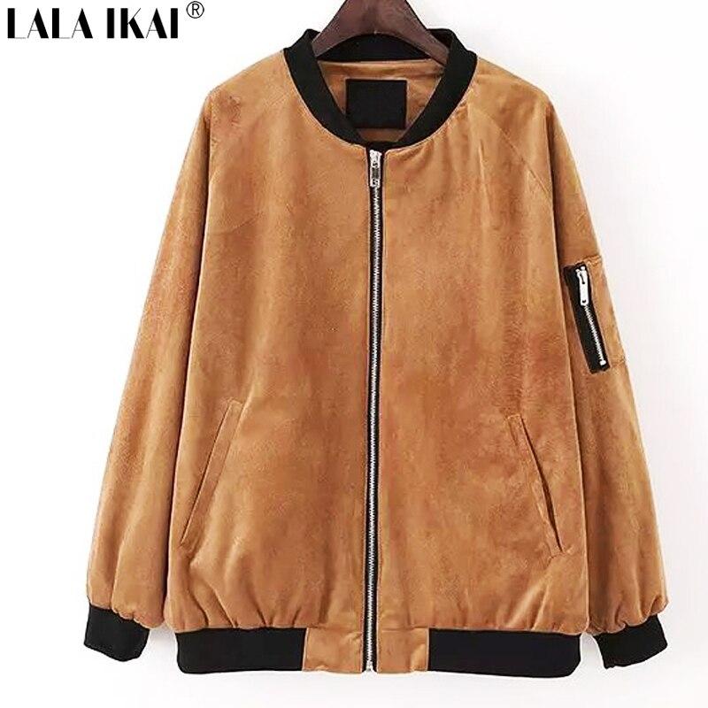 Popular Women Bomber Jacket Brown-Buy Cheap Women Bomber Jacket ...