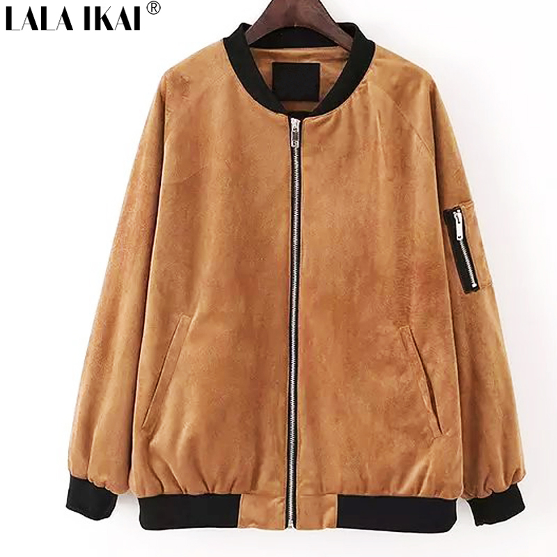 Buy ladies brown leather bomber jacket and get free shipping on ...