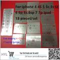 13pcs/lot high quality full set BGA Reballing Stencil dedicate kit for iPhone 4 4s 5 5s 5c 6 6+ 6S 6s+ 7 7+ SE For iPad