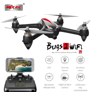 MJX Bugs 2 B2W Dron Brushless Profissional GPS Camera Drone With Camera HD Bugs 2w 5GHz WiFi FPV RC Quadcopter 2.4G Quadrocopter
