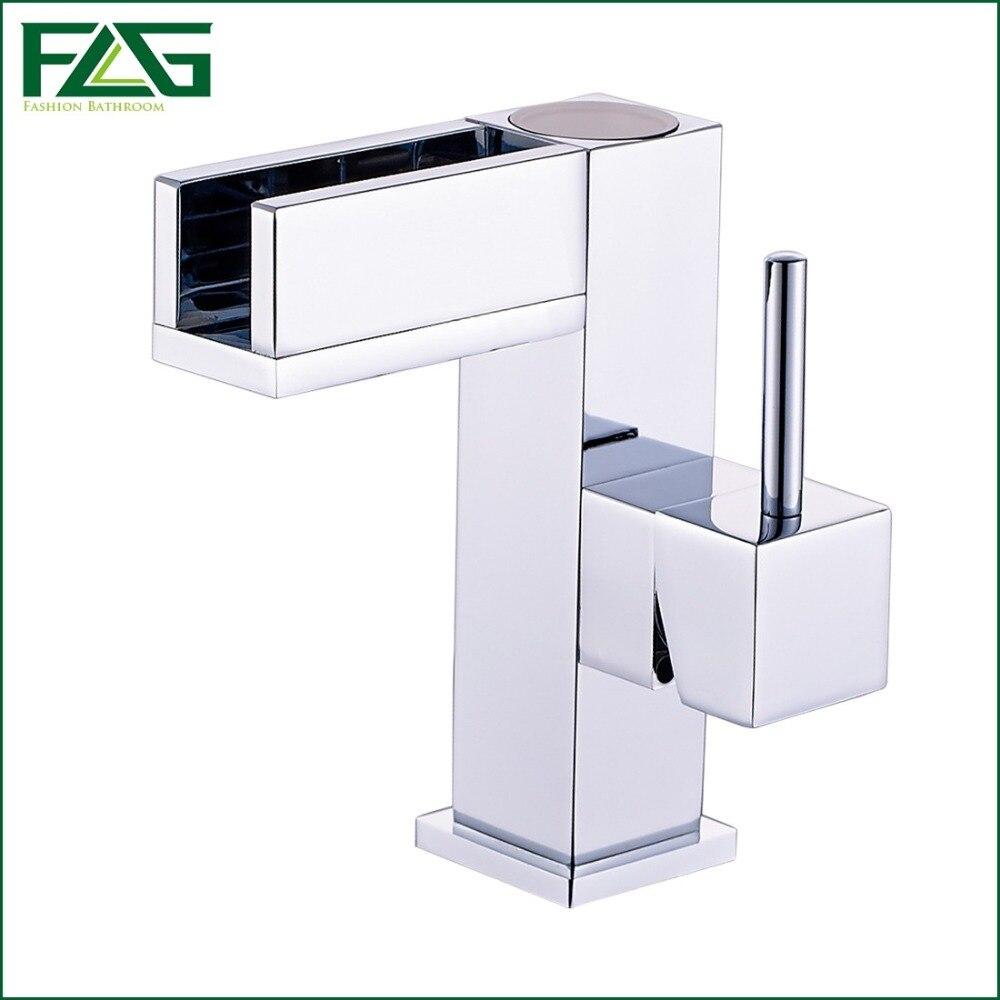 FLG livraison gratuite contrôle de température LED bassin robinet robinet d'eau cascade robinet salle de bains robinets 3 couleurs robinet à LED 127-11C - 5
