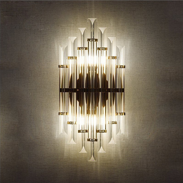 Led E14 Nordique Fer Cristal Designer Lampe à Led Lumière Led