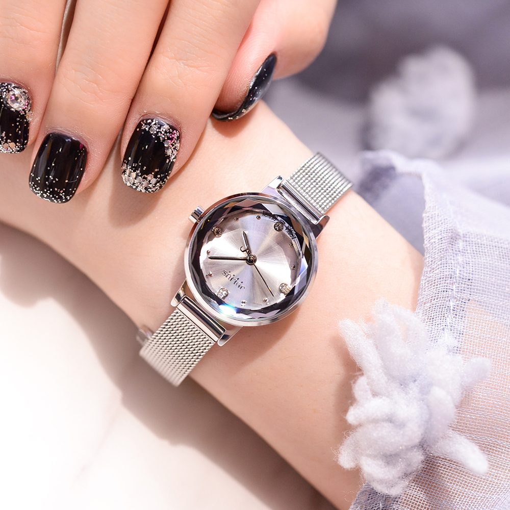 New fashion women's silver color watch lover's watch