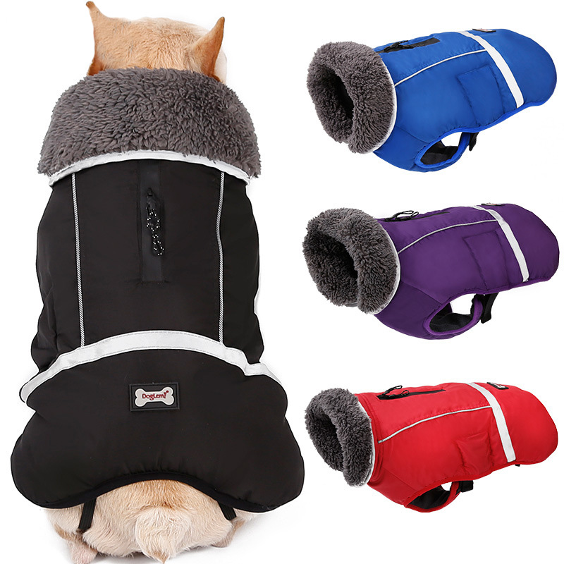 642ba5c4b0c3 Dog Clothes Winter Waterproof Outdoor Pet Dog Jacket Puppy Jacket Vest Pet  Clothes Thicken Warm Dog Clothing Pet Sport Coat