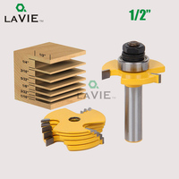 LA VIE 2pcs Set 1 2 Shank Slot Knife Cutter 3 Wing Router Bit Set 7pcs