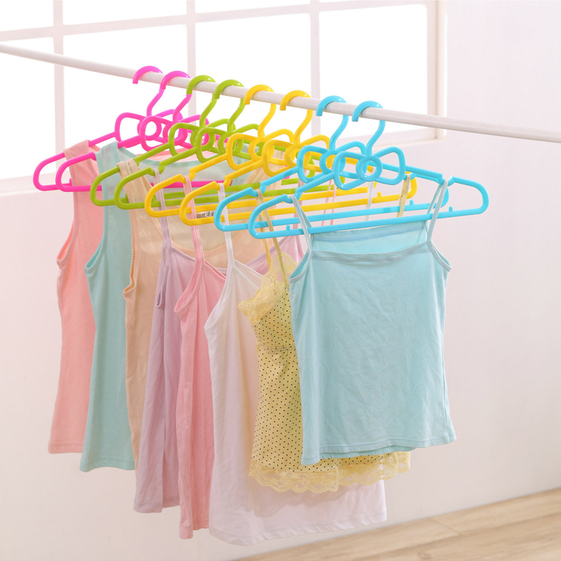 10pcs/lot adult plastic hangers for clothes rack ellipse bowknot slip-resistant hanger
