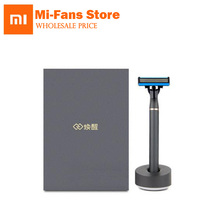 3in1 a Sets Xiaomi New Brand Men Shaver Razor Lemon Flavor 7 in 1 Sets Magnetic Replace the Clip Best Gift for Father Housband
