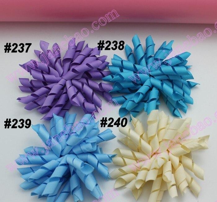 90 шт. 3,5 дюйма предмет гордости бантики(для шитья) Разноцветные бант для волос korker цветная юбка для девочки; заколки для волос, предмет гордости зажимы