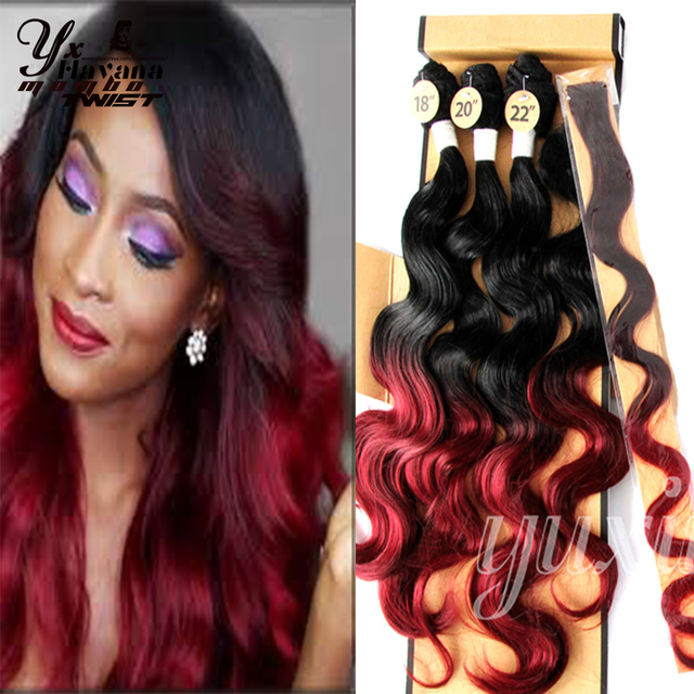 3pcslot Japanese Hair Ombre Synthetic Weave Extension Ombre Body
