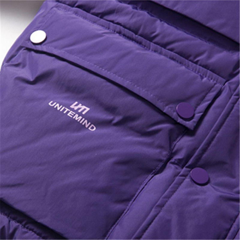 Femmes Hip Black Manteau Parka Coton Streetwear Lâche Épaississent Imprimer De Manteaux Ouatée red D'hiver Hop Mode Capuche Veste purple Chaud 2018 À 0HqtEwE