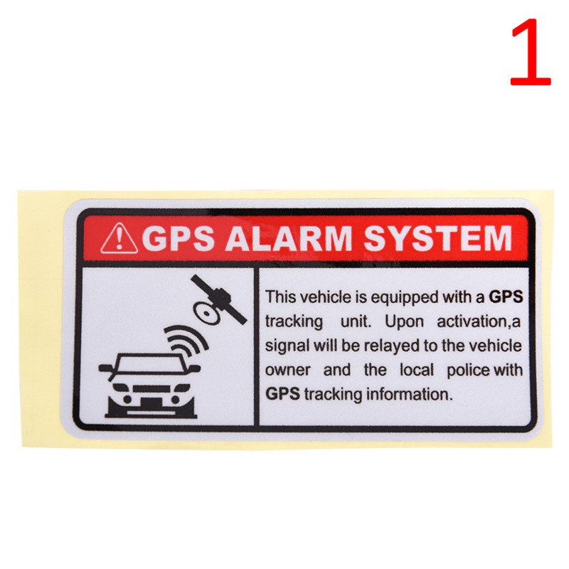 Warning GPS ALARM SYSTEM Tracking Anti Theft Funny Car Window Sticker Decals