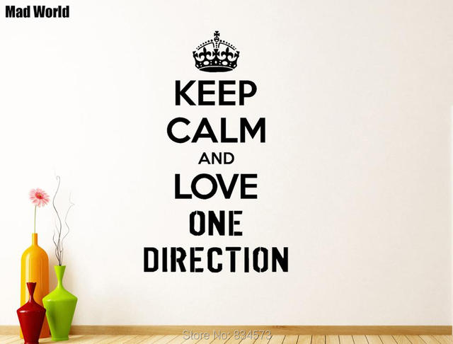 Mad World KEEP CALM AND LOVE ONE DIRECTION Wall Art Stickers Wall ...