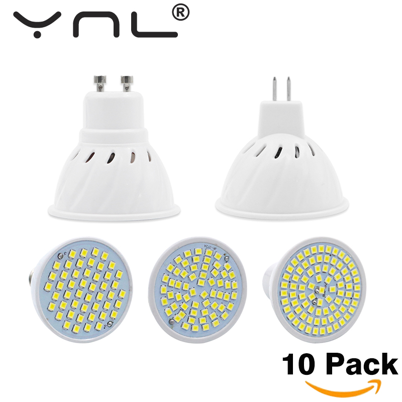 10PCS/Lot Lampada Led E27 E14 GU10 MR16 Led Lamp 220V High Bright Bombillas LED Bulb SMD2835 48 60 80LEDs Lampara For Spotlight