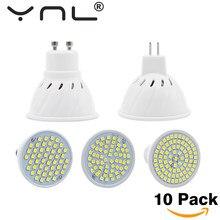 Lâmpada de led e27 e14 gu10 mr16, 10 pçs/lote v, luz de led alto brilho, smd2835 48 60 80leds lampara holofote