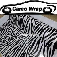 Zebra Vinyl Film Camouflage Sticker Car Wrap Animal Pattern Vinyl Vehicle Motorcycle Car Sticker Zebra Decal Film Air Release