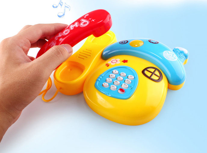 Infants Telephone Multi-function Enlightenment Music Baby Toys, Educational Toys 1-2-3 Years Old Unisex Plastic