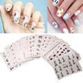 50sheets/Set Mixed Colors Decal Water Transfer Manicure Nail Art Stickers DIY Tips Decoration Beauty Nail Stickers Accessoires