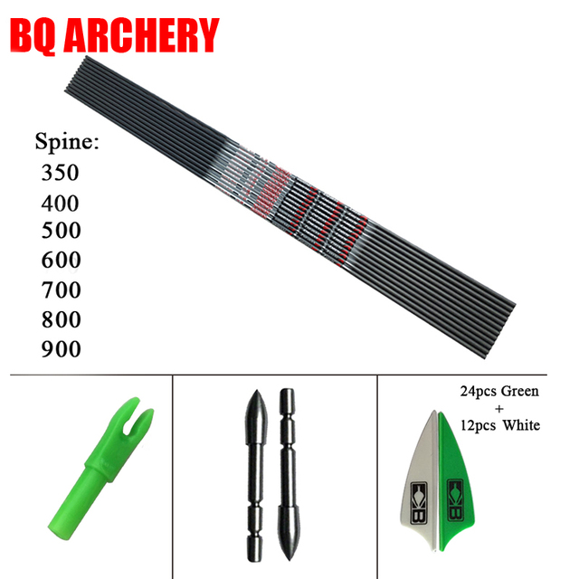 Archery 12pcs VAP V3 V6 Carbon Arrow ID4.2mm Plastic Vanes Bohning Nock DIY 80gr Tips Hunting and Shooting Outdoor