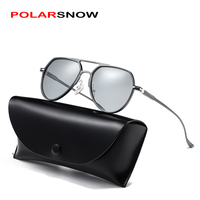 POLARSNOW Brand Polarized sunglasses for men and women aluminum classic style Fashion sunglasses Driving glass oculos gafas 2019