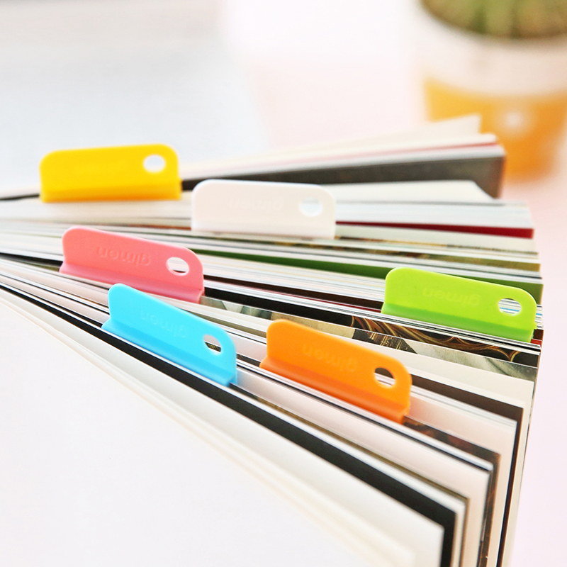 6Pcs/Set Notebooks Memo Clip Multifunction Home Office Practical Desktop Documents DIY Sorting Label Papers Folder Casual Clips