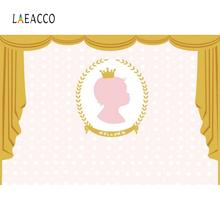 Laeacco Baby Shower Backdrops For Photography Curtain Its A Girl Party Wreath Photocall Backgrounds Photo Studio