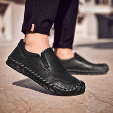 Big Size Men Leather Shoes Fashion Slip On Shoe For Italian Loafers Luxury Brand Boat Moccasins Julx3