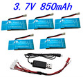 Syma X5S X5SC X5SW H18 H5P 1 To 5 3.7V 850MAH Upgrade Battery With USB Charger Cable Adapter Spare Parts for