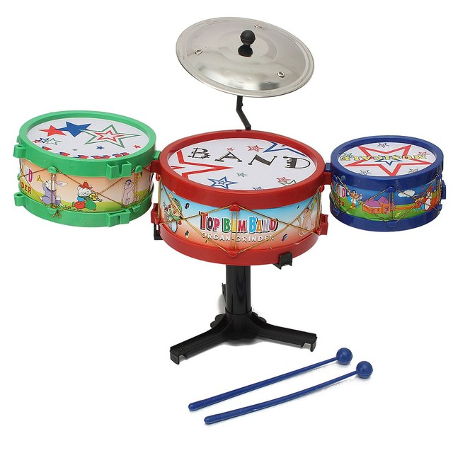 Hot Sale 4PC Set Mini Children Drum Kit Toys Musical Instruments For Kids Music Learning