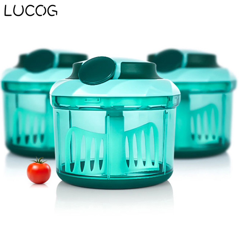 LUCOG Manual Meat Slice Machine Kitchen Meat Grinder Mincers for Beef Pork Fish Vegetable Spice Food Processor lucog 900ml food grinder mincers for meat vegetable spice manual meat grinders stainless steel blade for kitchen moedor de carne